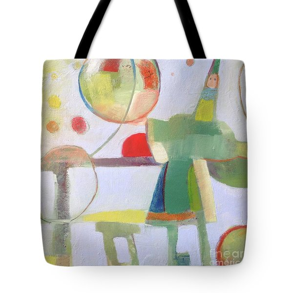 Tote Bag featuring the painting Circus Act by Michelle Abrams