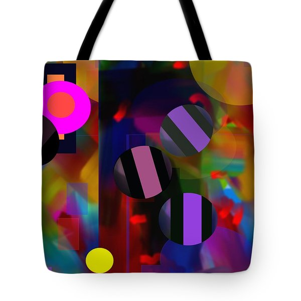 Tote Bag featuring the digital art Circus Balls by Lynda Lehmann