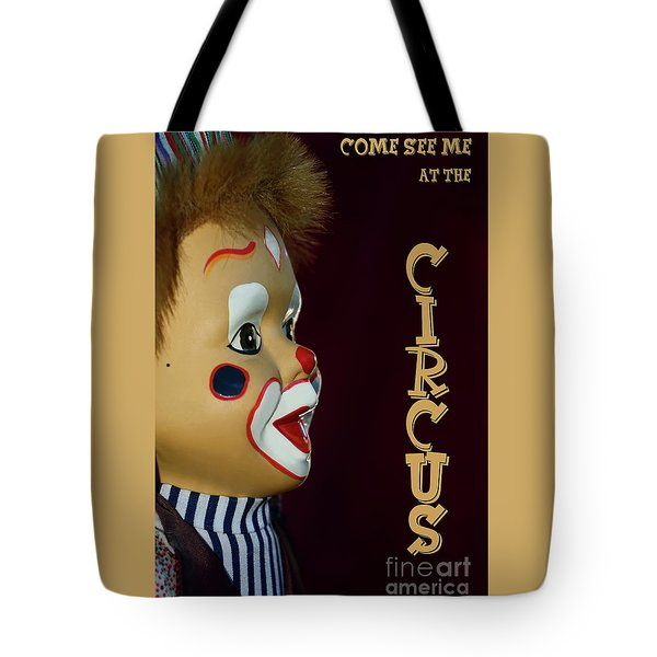 Tote Bag featuring the photograph Circus Clown By Kaye Menner by Kaye Menner