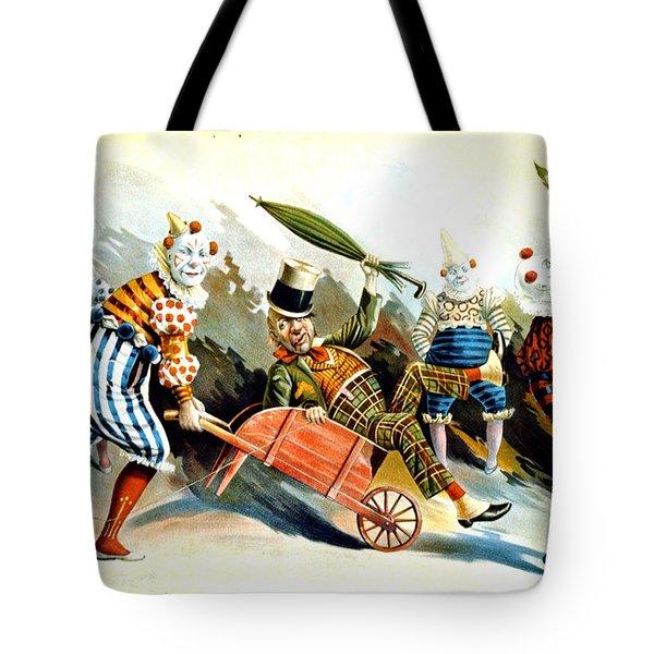 Circus Clowns - Vintage Circus Advertising Poster Tote Bag