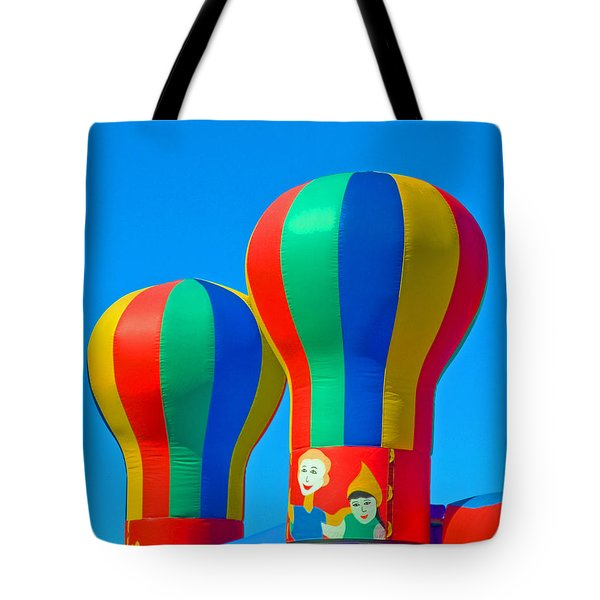 Circus In The Sky - Three Tote Bag by Allan  Hughes