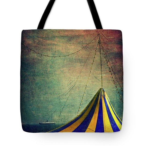 Circus With Distant Ships II Tote Bag