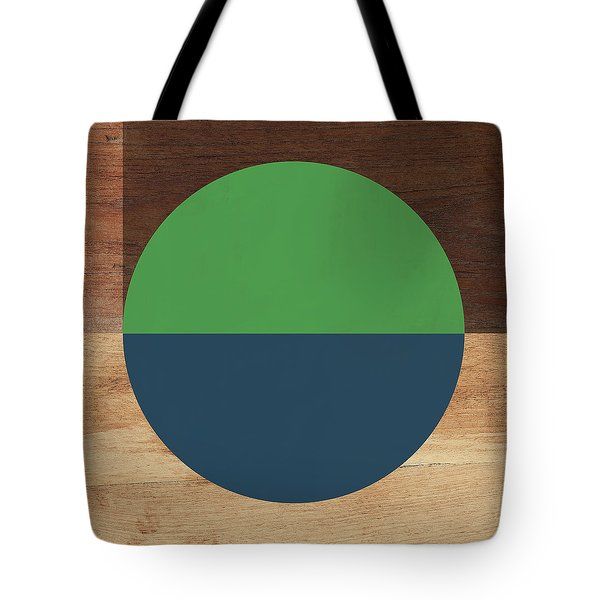 Cirkel Blue And Green- Art By Linda Woods Tote Bag