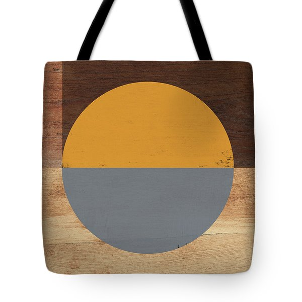 Cirkel Yellow And Grey- Art By Linda Woods Tote Bag