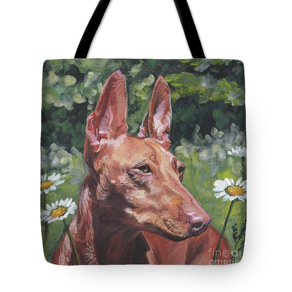 Tote Bag featuring the painting Cirneco Dell'etna by Lee Ann Shepard