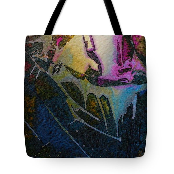 Tote Bag featuring the painting Cirque Du Soleil by Mary Sullivan