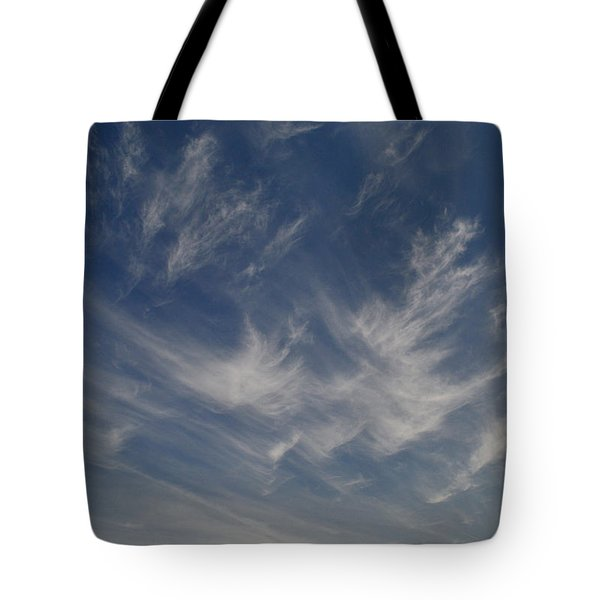 Cirrus Cloud Strokes 2  Tote Bag by Lyle Crump