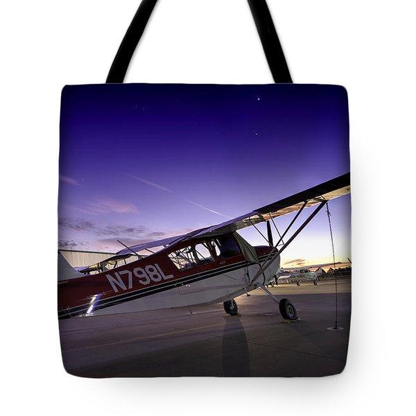 Citabria In The Twilight Of Dawn Tote Bag