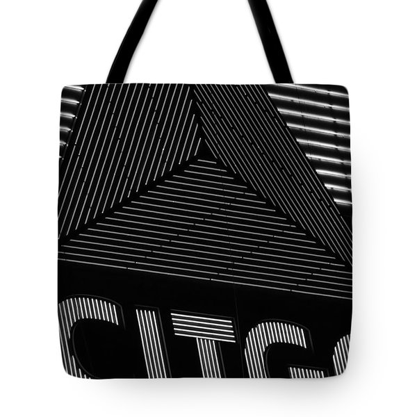 Citgo Sign Closeup Boston Ma Black And White Tote Bag