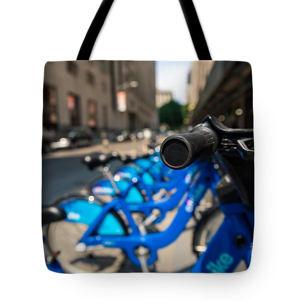 Citibike Handle Manhattan Color Tote Bag