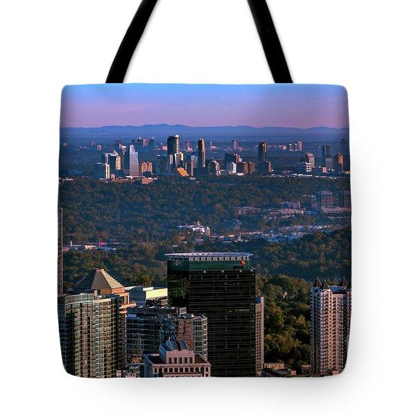 Cities Of Atlanta Tote Bag