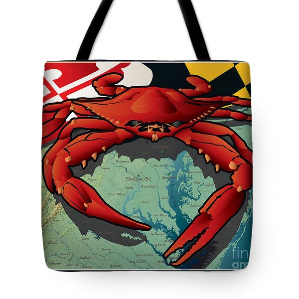 Citizen Crab Of Maryland Tote Bag