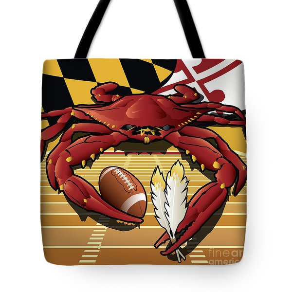 Citizen Crab Redskin, Maryland Crab Celebrating Washington Redskins Football Tote Bag