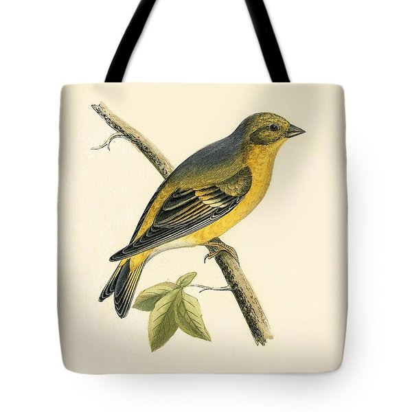 Citril Finch Tote Bag by English School