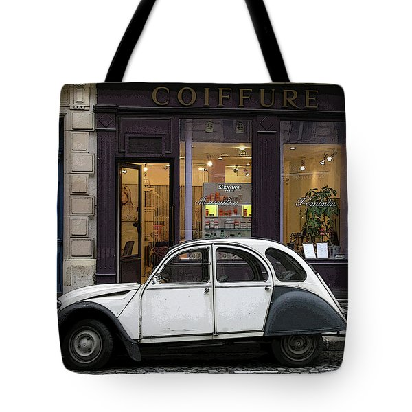 Tote Bag featuring the photograph Citroen 2cv by Jim Mathis