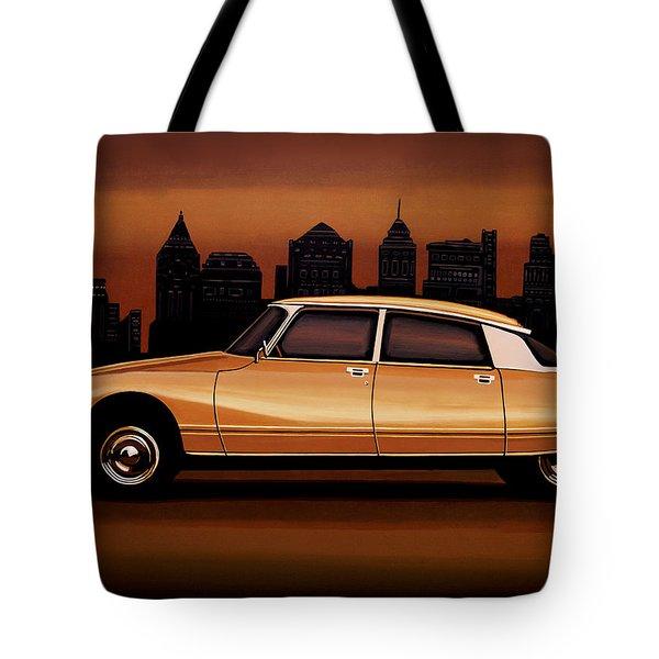 Citroen Ds 1955 Painting Tote Bag