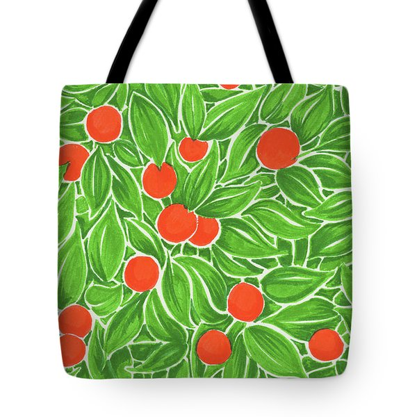 Citrus Pattern Tote Bag by Cindy Garber Iverson