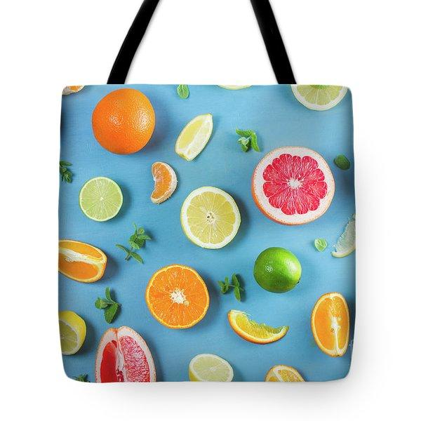 Citrus Summer Tote Bag by Anastasy Yarmolovich