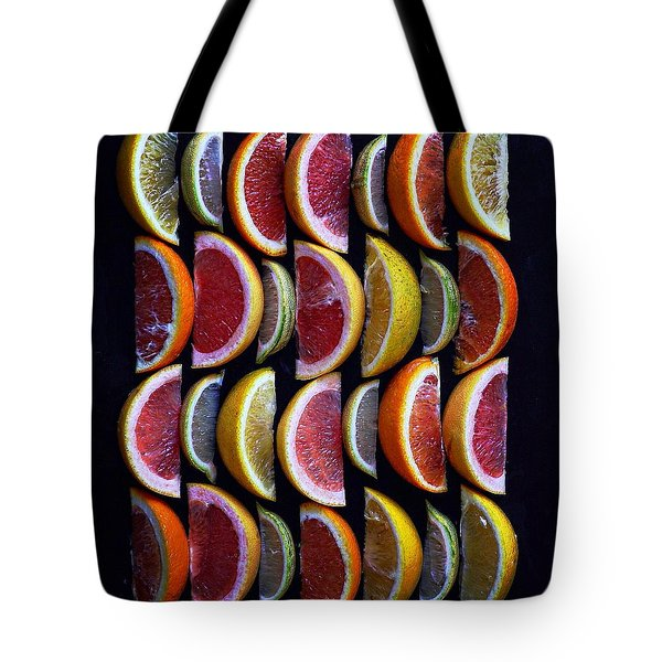 Wavy Citrus Lineage Tote Bag