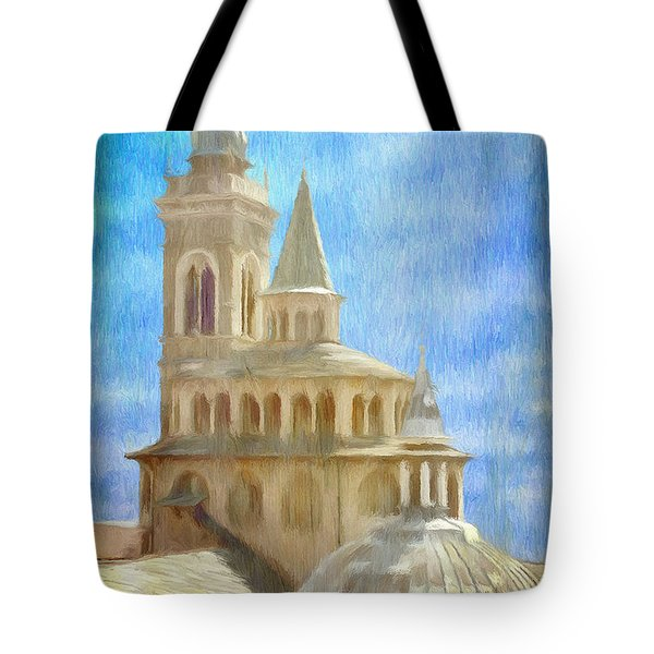 Citta Alta From Above Tote Bag by Jeffrey Kolker