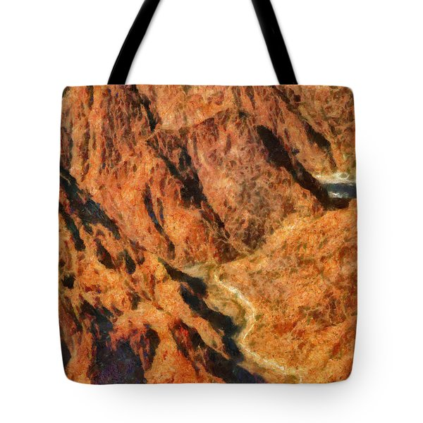 City - Arizona - Grand Canyon - A Look Into The Abyss Tote Bag by Mike Savad