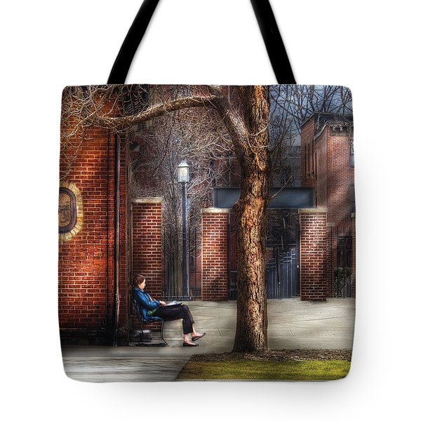 City - Newark Nj - Always Waiting  Tote Bag by Mike Savad