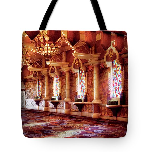 City - Vegas - Excalibur - In The Great Hall  Tote Bag by Mike Savad