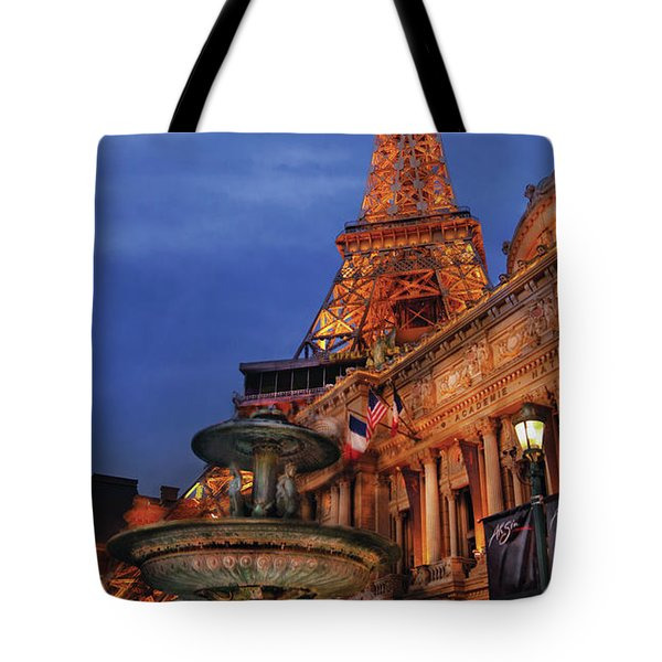 City - Vegas - Paris - Academie Nationale - Panorama Tote Bag by Mike Savad