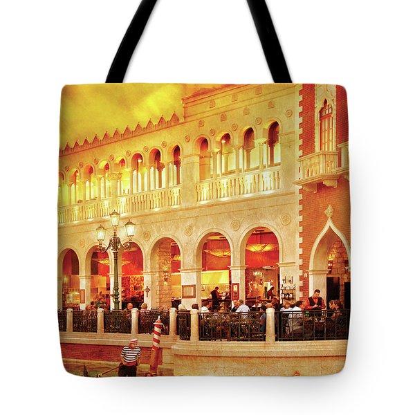 City - Vegas - Venetian - Life At The Palazzo Tote Bag by Mike Savad