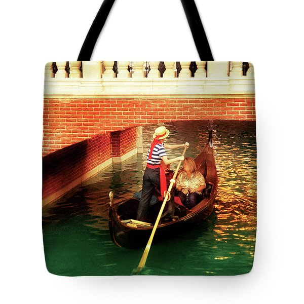 City - Vegas - Venetian - That's Amore Tote Bag by Mike Savad