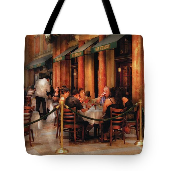 City - Venetian - Dining At The Palazzo Tote Bag by Mike Savad