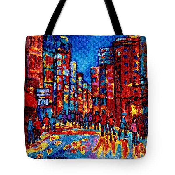 City After The Rain Tote Bag by Carole Spandau