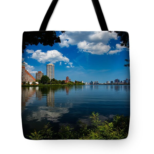 City Along The Charles Tote Bag