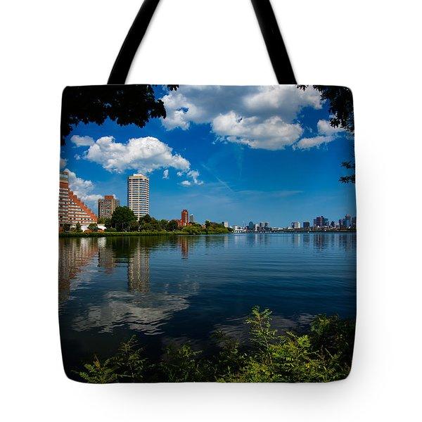 City Along The Charles Tote Bag