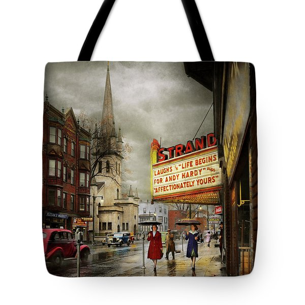 City - Amsterdam Ny - Life Begins 1941 Tote Bag