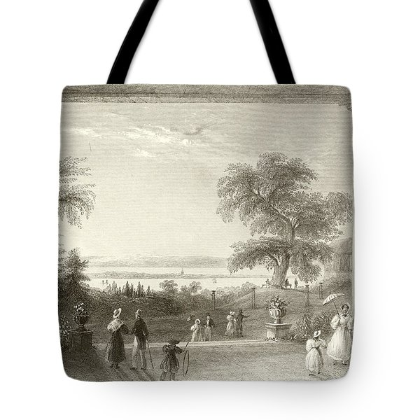 City And Lake Of Constance From The Chateau Wolfsberg Tote Bag