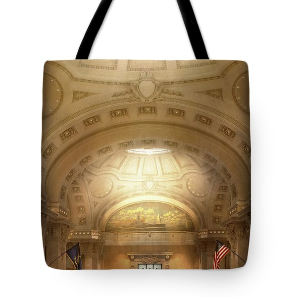 Tote Bag featuring the photograph City - Annapolis Md - Bancroft Hall by Mike Savad