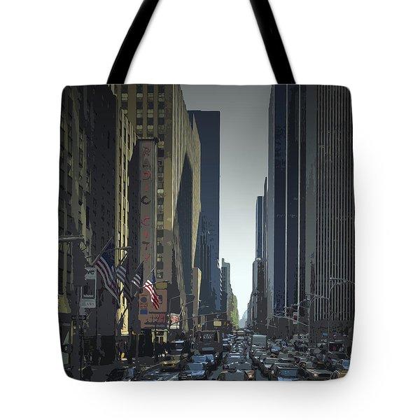 City-art 6th Avenue Ny  Tote Bag by Melanie Viola