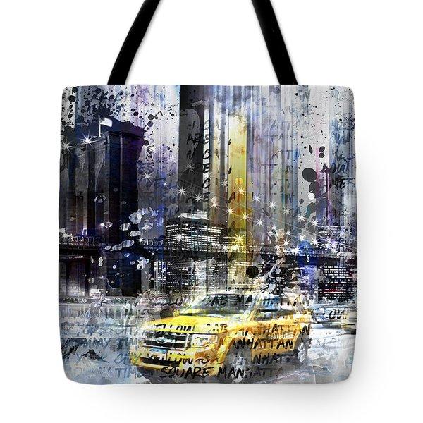 City-art Nyc Collage Tote Bag by Melanie Viola