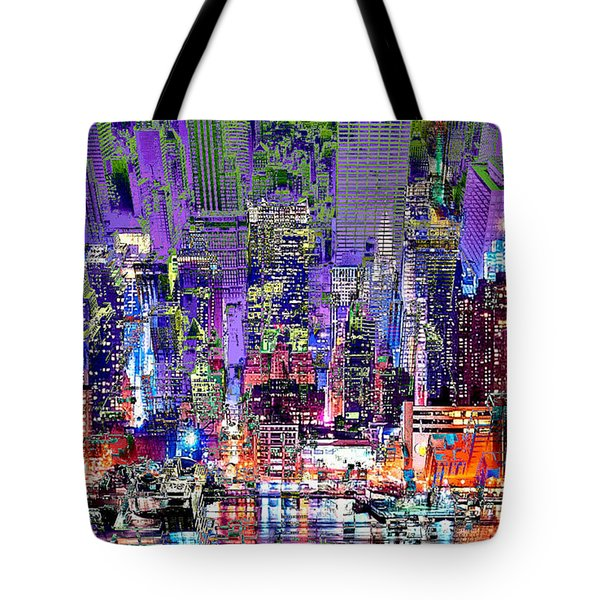 City Art Syncopation Cityscape Tote Bag by Mary Clanahan