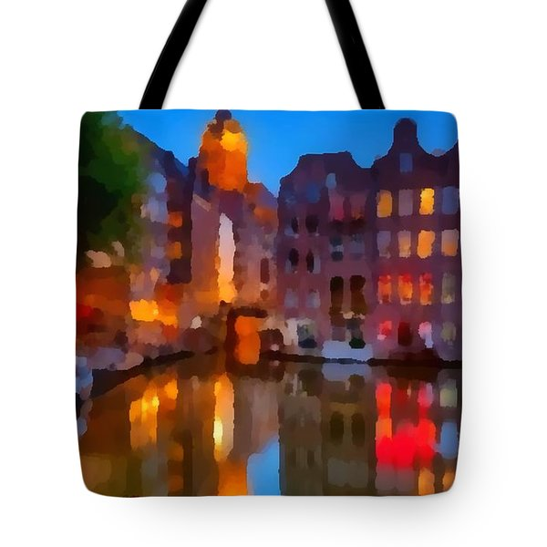 City Block 900 Soft And Dreamy In Thick Paint Tote Bag