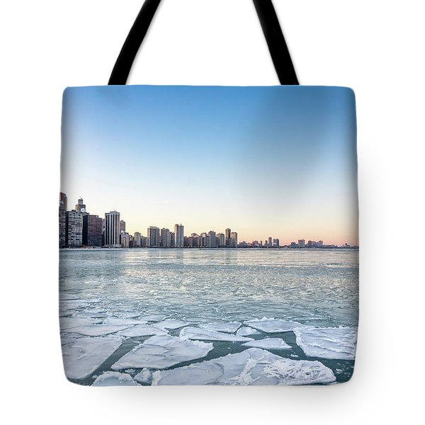City By The Frozen Lake Tote Bag