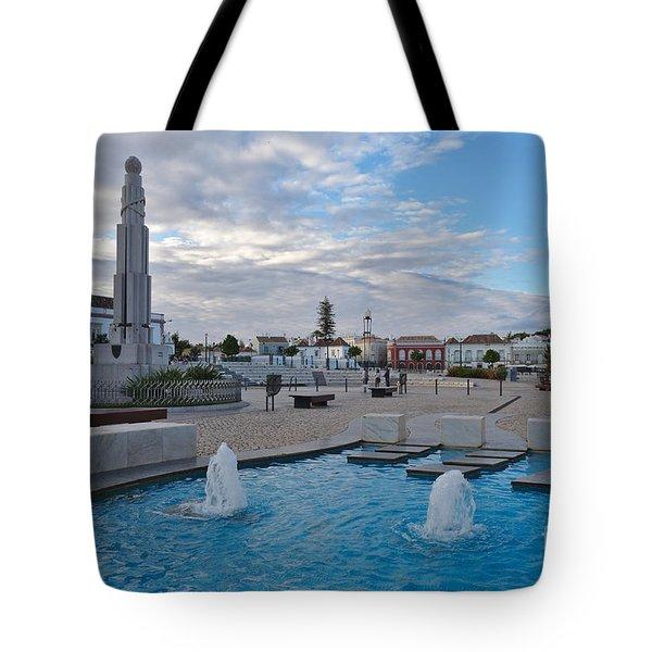 City Center Of Tavira Tote Bag by Angelo DeVal