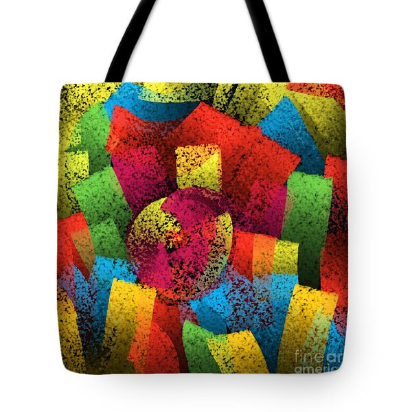 Tote Bag featuring the digital art City Center by Silvia Ganora