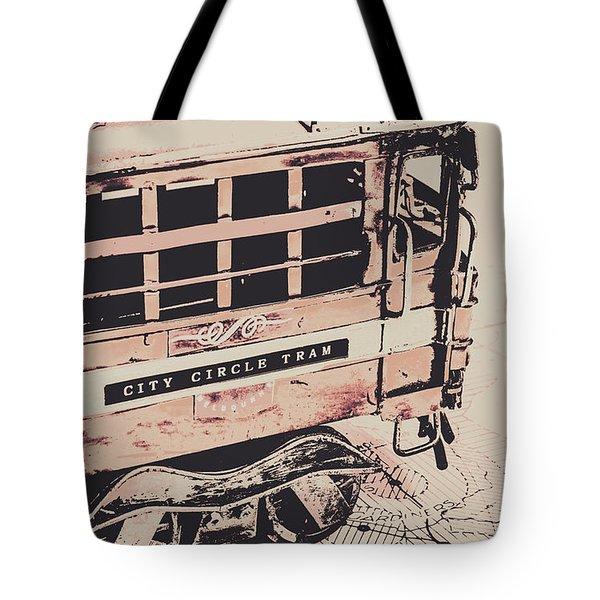 City Circle Street Artwork Tote Bag