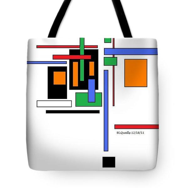 City Colors 2 Tote Bag by B L Qualls