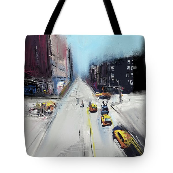 City Contrast Tote Bag by Russell Pierce
