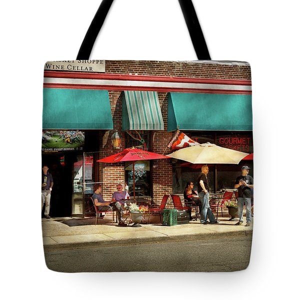 Tote Bag featuring the photograph City - Edison Nj - Pino's Basket Shop by Mike Savad