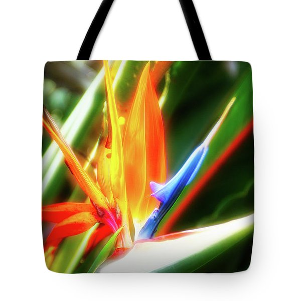 Tote Bag featuring the photograph City Flare Bird Of Paradise by Aimee L Maher Photography and Art Visit ALMGallerydotcom