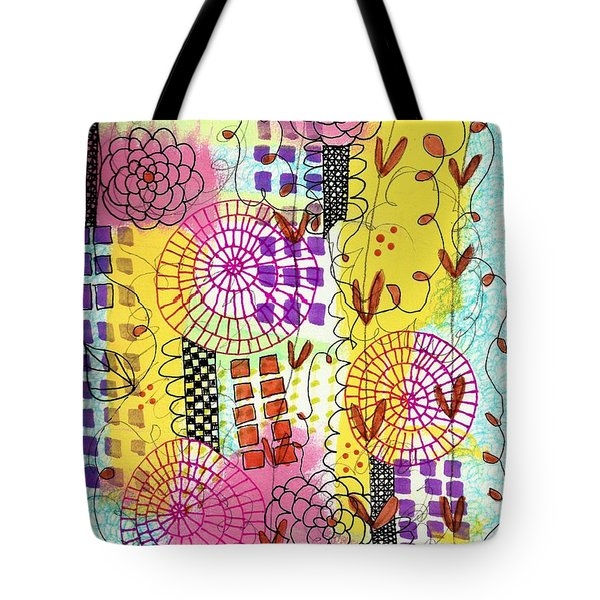 City Flower Garden Tote Bag